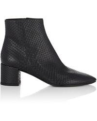 Saint Laurent - Lukas Python Ankle Boots - Lyst