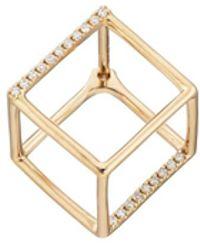 Shihara - 3d Diamond Square Earring - Lyst
