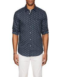 John Varvatos - Floral Cotton Slim Shirt - Lyst
