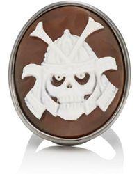 Amedeo - Skull Samurai Cameo Ring - Lyst