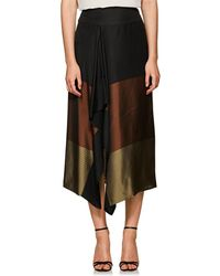 Zero + Maria Cornejo - Striped & Colorblocked Midi-skirt - Lyst