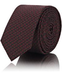 Saint Laurent - y Jacquard Silk Necktie - Lyst