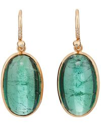 Irene Neuwirth - Tourmaline & Diamond Drop Earrings - Lyst