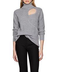 Esteban Cortazar - Cutout Rib-knit Wool-blend Turtleneck Sweater - Lyst