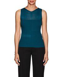 Narciso Rodriguez - Sheer-detail Rib-knit Top - Lyst