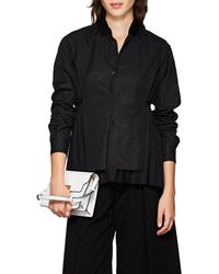 Noir Kei Ninomiya - Pleated-back Cotton Poplin Shirt - Lyst