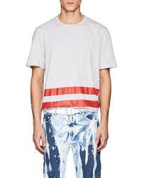 Helmut Lang - Stripe Print Cotton T Shirt - Lyst