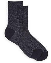 Maria La Rosa - Metallic Wool-blend Mid-calf Socks - Lyst