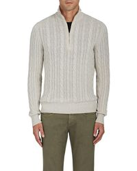 Loro Piana - Cable-knit Cashmere Quarter-zip Pullover - Lyst