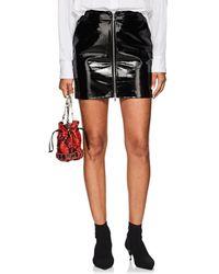 L'Agence - Claudia Leather Zip Mini Skirt - Lyst