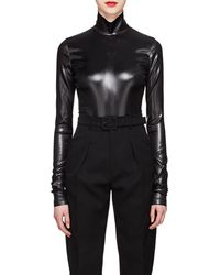 Givenchy - Coated Satin Bodysuit - Lyst