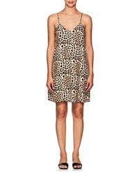 ATM - Leopard Silk Slip Dress - Lyst