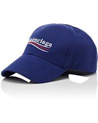 Balenciaga - Cotton Twill Baseball Cap - Lyst