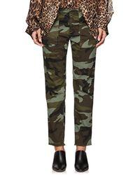 Nili Lotan - Jenna Camouflage Cotton Pants - Lyst