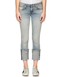 R13 - Kate Skinny Distressed Jeans - Lyst