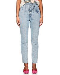 GRLFRND - Daphne Belted Skinny Jeans - Lyst