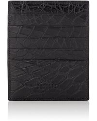 Barneys New York - Large Alligator Card Case - Lyst