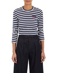 Play Comme des Garçons - Striped Cotton Long-sleeve T-shirt - Lyst