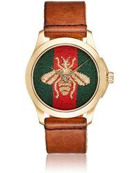Gucci - Le Marché Des Merveilles Leather Watch - Lyst