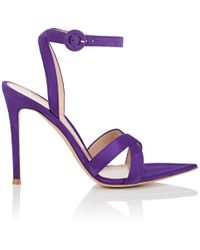 Gianvito Rossi - Suede Ankle - Lyst