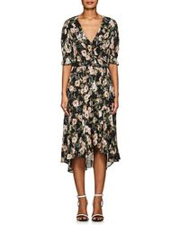 Icons - Ruffle Floral Wrap Dress - Lyst
