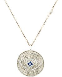 Feathered Soul - Evil Eye Pendant Necklace - Lyst