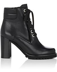 Barneys New York - Lug-sole Leather Ankle Boots - Lyst