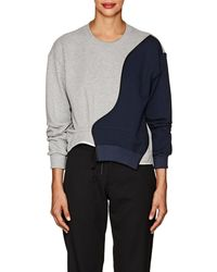 Harvey Faircloth - Patchwork Cotton French Terry Sweatshirt - Lyst