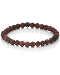 Barneys New York - Tiger's Eye Beaded Bracelet - Lyst