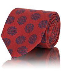 Barneys New York - Floral Medallion Silk Faille Necktie - Lyst
