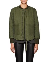 NSF - Clementine Quilted Twill Bomber Jacket - Lyst