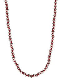 M. Cohen - Sterling Silver Rondelles On Cord Necklace - Lyst