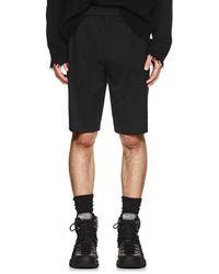 Helmut Lang - Logo-waist Wool Twill Shorts - Lyst