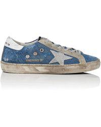 Golden Goose Deluxe Brand - Superstar Denim Sneakers - Lyst