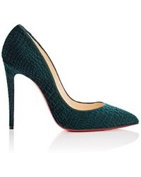 425d03ed4544 Christian Louboutin - Pigalle Follies Stamped Velvet Pumps - Lyst