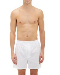 Barneys New York - Poplin Boxer Shorts - Lyst