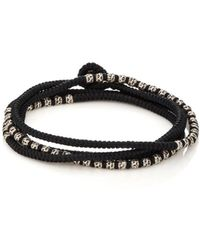 M. Cohen - Beads On Knotted Cord Wrap Bracelet - Lyst