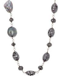 Monique Péan - Black Diamond Beaded Necklace - Lyst