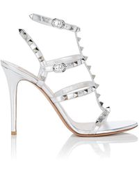 Valentino - Rockstud Leather Multi-strap Sandals - Lyst