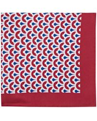Barneys New York - Circle Print Silk Twill Pocket Square - Lyst