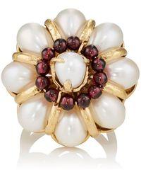 Goossens Paris - Baroque Pearl & Garnet Ring Size 6 - Lyst
