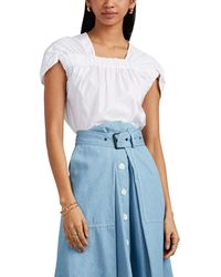 Zero + Maria Cornejo - Clio Ruched Cotton Top - Lyst
