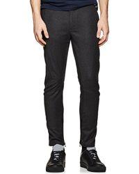 Lanvin - Virgin Wool-cashmere Flannel Moto Trousers - Lyst