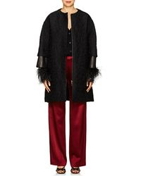 Lanvin - Leather-inset Abstract Wool - Lyst
