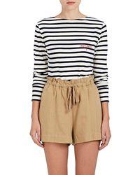 Maison Labiche - Mariniere bonjour Striped Cotton T - Lyst