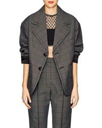 MM6 by Maison Martin Margiela - Checked Wool - Lyst