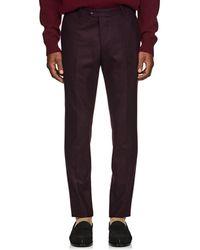 Officine Generale - Wool Flannel Trousers - Lyst