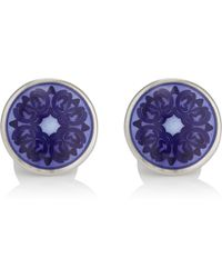 Barneys New York - Floral Cufflinks - Lyst