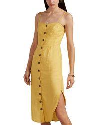Suboo - Biscay Slub Linen Button-front Sundress - Lyst