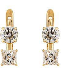 Ileana Makri - White Diamond Drop Earrings - Lyst
